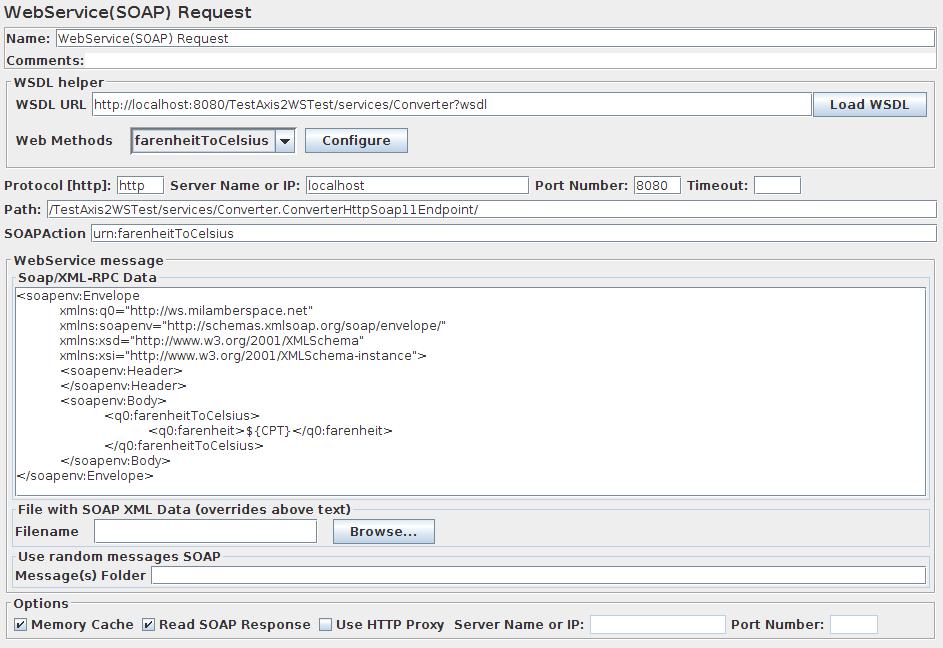 Apache JMeter - User's Manual: Building a WebService Test Plan