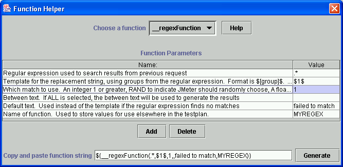 JMeter - User's Manual: Functions and Variables