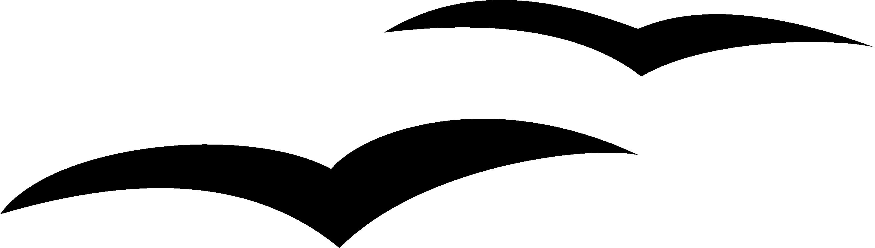 seagull silhouette clip art - HD2911×825